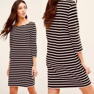 Ganni Old Spice Striped Jersey Shift Dress Size XS